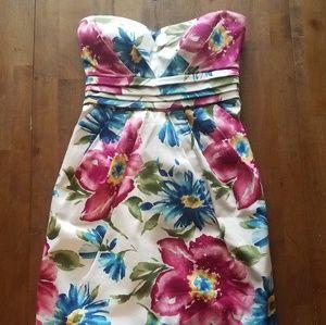 Floral Strapless DEB Dress